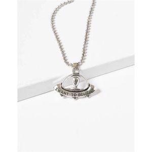 👽 Flying Saucer Alien Necklace 🛸